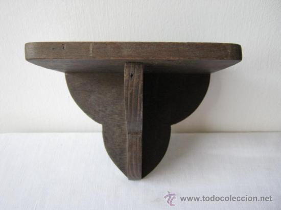 Antigua balda repisa peana de madera comprar repisas antiguas en todocoleccion 26599480 - Balda de madera ...