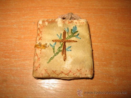 ESCAPULARIO SAGRADO CORAZON (Antigüedades - Religiosas - Escapularios Antiguos)