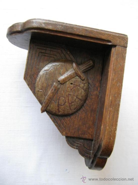 Antigua balda estante repisa de madera de roble comprar repisas antiguas en todocoleccion - Balda de madera ...