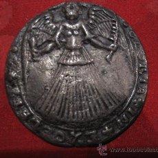 Antigüedades: BELLA PLACA COLONIAL CON REPRESENTACION DE UN ANGEL. S.XVII O XVIII. Lote 25214118