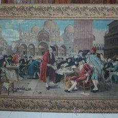 Antigüedades: TAPIZ CARNAVAL EN VENECIA S -XIX. Lote 44995707