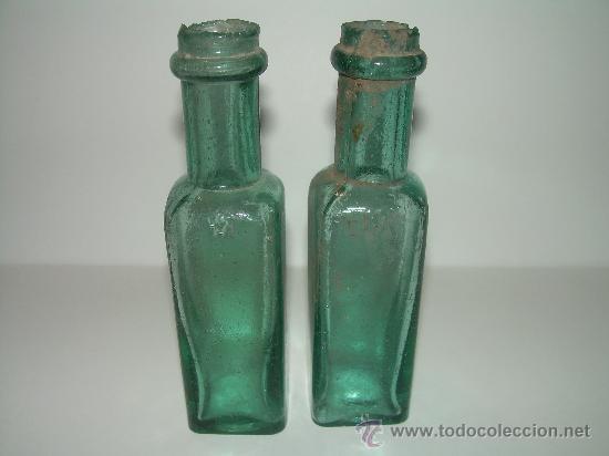 MUY ANTIGUAS BOTELLAS DE CRISTAL PARA ACEITE O PERFUME...FARMACIA.....SIGLO XIX (Antigüedades - Cristal y Vidrio - Farmacia )