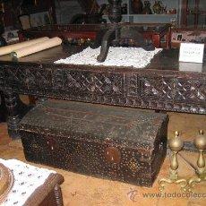 Antigüedades: IMPORTANTE MESA REFECTORIO DE CASTAÑO S.XVII. Lote 25259876