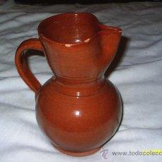 Antigüedades: JARRA DE BARRO ESMALTADO - MIDE 23 CM DE ALTA X 16 CM DE DIAMETRO. Lote 26789671