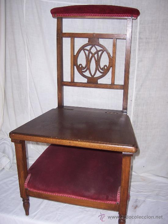 Antigua silla y reclinatorio de iglesia en made comprar - Sillas antiguas de madera ...