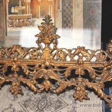 Antigüedades: PORTAFOTOS EN BRONCE DORADO. Lote 25699172