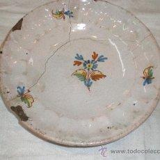 Antigüedades: PLATO DE ALCORA. Lote 27195550