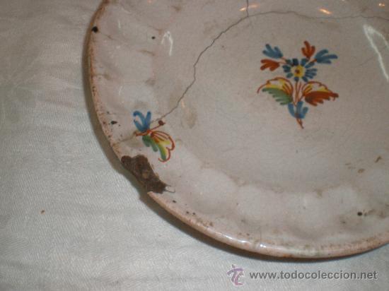 Antigüedades: plato de alcora - Foto 2 - 27195550