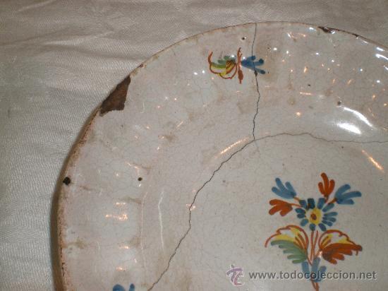 Antigüedades: plato de alcora - Foto 3 - 27195550