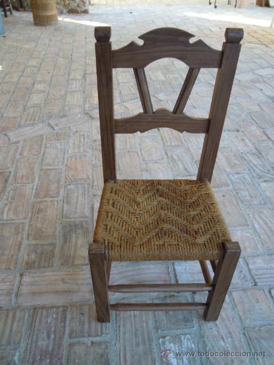 Silla antigua de morera negra asiento de cuerda comprar - Tejidos para tapizar sillas ...