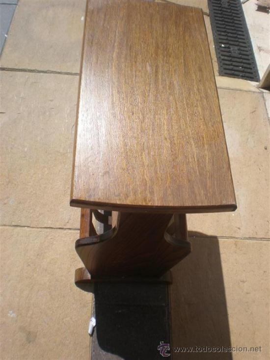 Antigüedades: revistero de madera de roble holandes - Foto 2 - 25563853