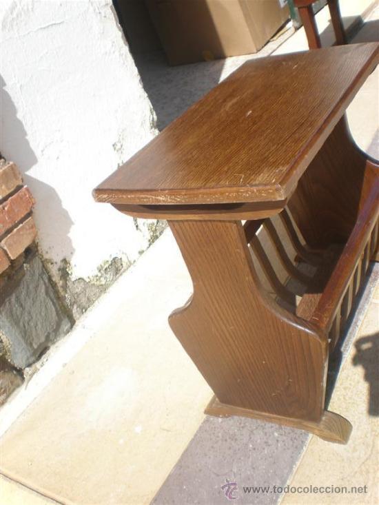 Antigüedades: revistero de madera de roble holandes - Foto 3 - 25563853