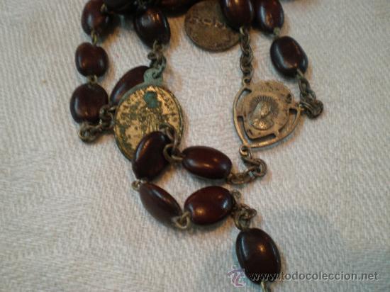 Antigüedades: rosario de cuenta de lentejas - Foto 2 - 27218450