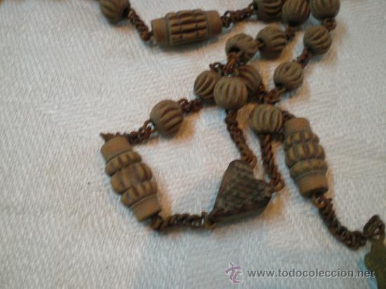 Antigüedades: rosario de cuentas de madera - Foto 2 - 27256512