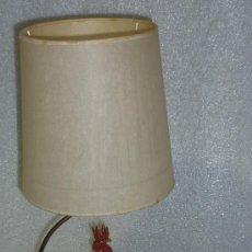 Antigüedades: CURIOSA LAMPARA DE GALLO DE PORCELANA PINTADA, ANTIGUA. PRINCIPIOS DE S.XX. Lote 25578377