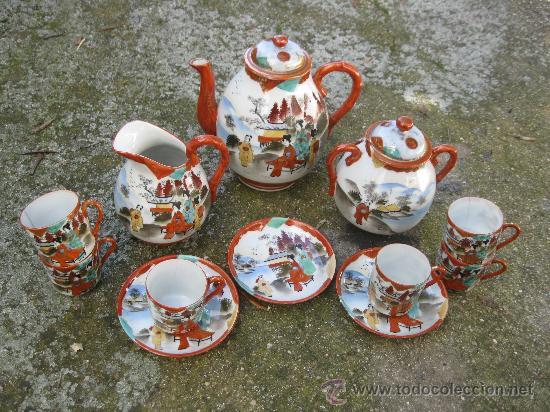 JUEGO DE CAFÉ DE PORCELANA ORIENTAL, S. XIX CHINA, HAY LO QUE SE VEE EN LA FOTO, 6 TAZAS 3 PLATOS (Antigüedades - Porcelanas y Cerámicas - China)