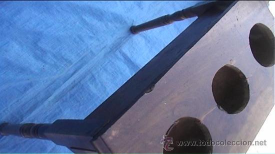 Antigüedades: CANTARERA DE NOGAL PARA TRES BOTIJOS CANTARO - Foto 8 - 26994448