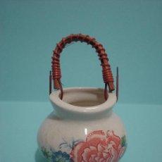 Antigüedades: CESTA DE PORCELANA JAPONESA. PALILLERO DE CERÁMICA.. Lote 25632509