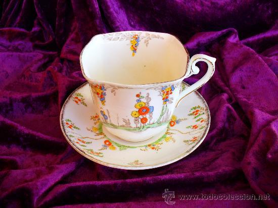 Taza y plato cafe porcelana inglesa antigua n 4 comprar - Porcelana inglesa antigua ...