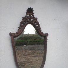 Antigüedades: ESPEJO DE MADERA CASTAÑO. Lote 25691091