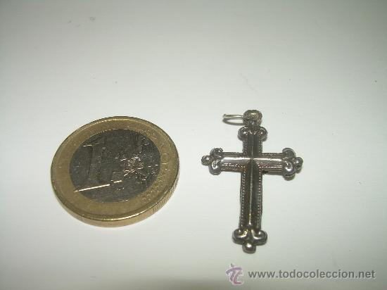 Antigüedades: ANTIGUO Y PEQUEÑO CRUCIFIJO DE PLATA...SIGLO XIX - Foto 3 - 27111044