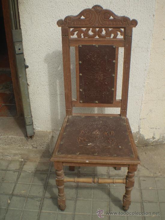 Silla para restaurar s xix comprar sillas antiguas en for Antiguedades para restaurar