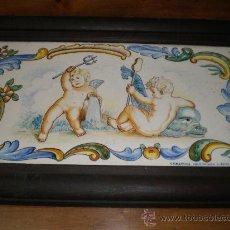 Antigüedades: AZULEJO DE MANISES ENMARCADO. Lote 27349254