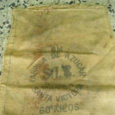 Antigüedades: SACO FABRICA DE AZUCAR S.I.C VALLADILID SANTA VICTORIA 60 KILOS. Lote 25793399