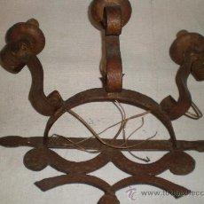 Antigüedades: APLIQUE DE HIERRO FORJADO. Lote 27473359