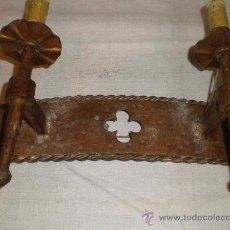 Antigüedades: APLIQUE DE HIERRO FORJADO 2. Lote 27497162