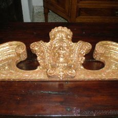Antigüedades: REMATE DE TALLA DE MADERA DORADA. Lote 27497164