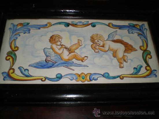 AZULEJO DE MANISES ANMARCADO (Antigüedades - Porcelanas y Cerámicas - Manises)