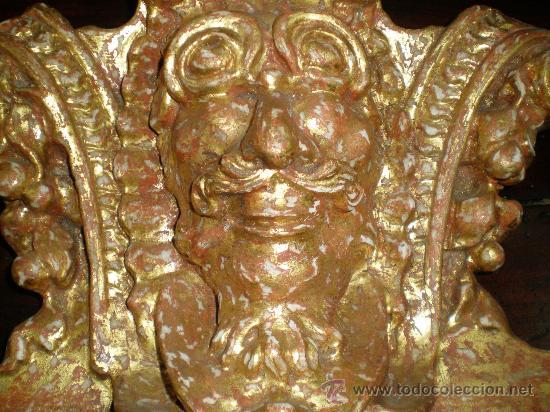 Antigüedades: remate de talla de madera dorada - Foto 3 - 27497164
