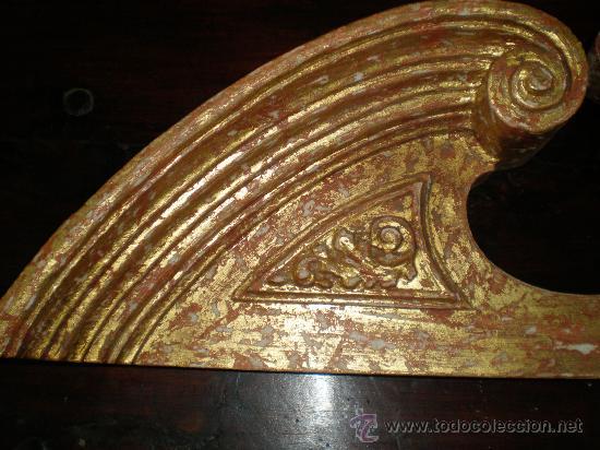 Antigüedades: remate de talla de madera dorada - Foto 2 - 27497164