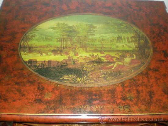 Antigüedades: mesa nido policromado - Foto 3 - 27418196