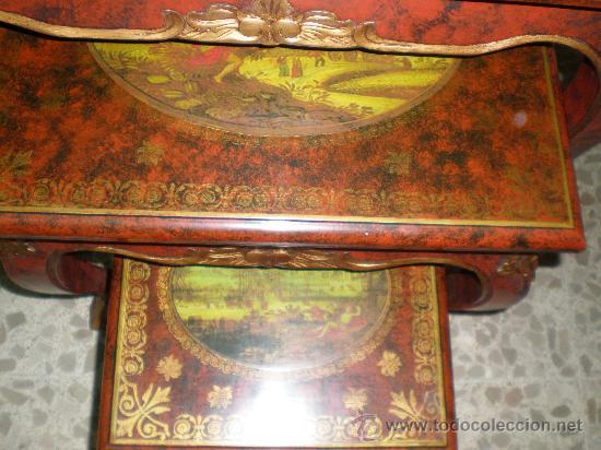 Antigüedades: mesa nido policromado - Foto 2 - 27418196