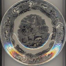 Antigüedades: MUY ANTIGUO PLATO FÁBRICA DE CARTAGENA DIÁMETRO: 23 CTMS.. Lote 25812350