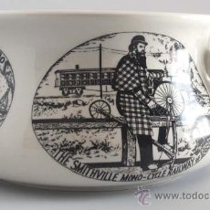 Antigüedades: ORINAL PORCELANA. PORTMEIRION POTTERY STOKE ON TRENT. VELOCIPEDES. MADE IN ENGLAND.. Lote 27276350