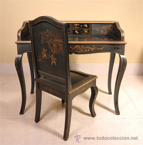 Escritorio y silla a juego en laca comprar escritorios - Escritorios antiguos baratos ...