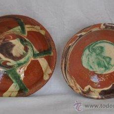 Antigüedades: PLATOS DE CORTEGANA (HUELVA). Lote 27319212