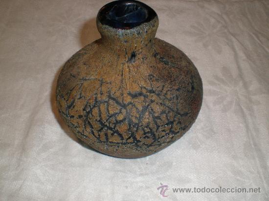 FRASCO DE VIDRIO DE GUARDIOLA ANTIGUO (Antigüedades - Cristal y Vidrio - Otros)