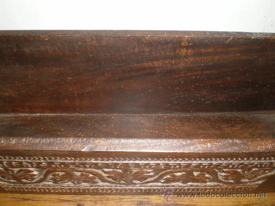 Antigüedades: macetero de madera tallada - Foto 3 - 25971243