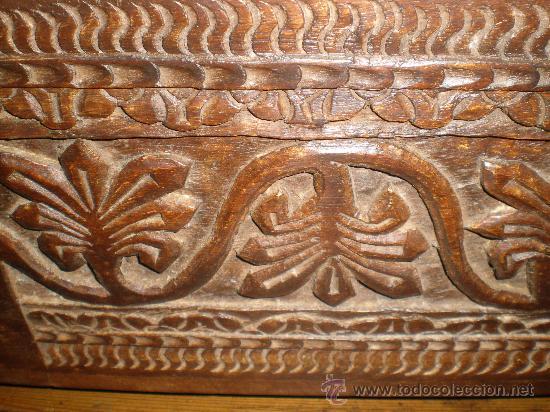 Antigüedades: macetero de madera tallada - Foto 2 - 25971243