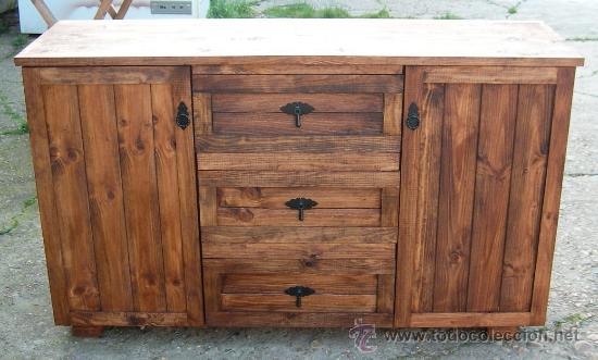 Comoda alacena rustico de madera con 2 puertas comprar - Cajones de madera antiguos ...