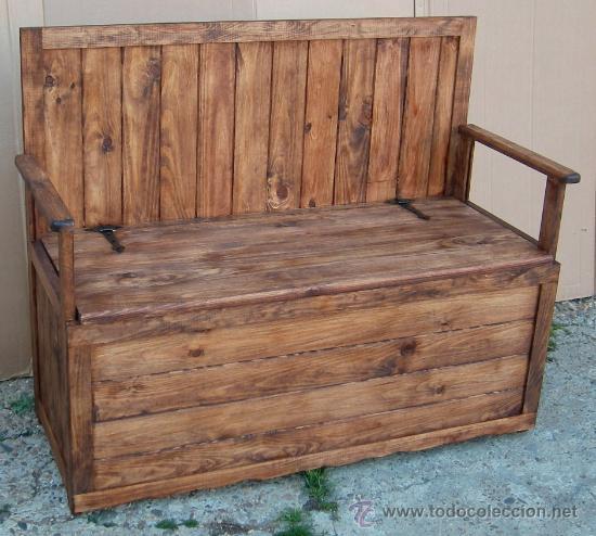 banco arcon de madera, mueble ,,, mue365 - Comprar Sillas Antiguas ...