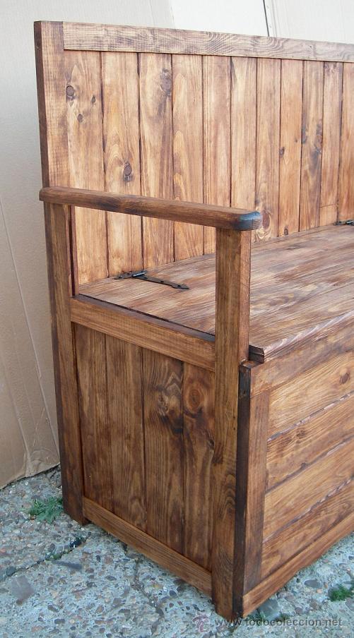 Banco arcon de madera mueble mue365 comprar sillas - Mueble banco asiento ...