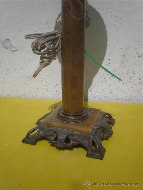 Antigüedades: lampara candil de bronce y alabastro - Foto 3 - 26010476