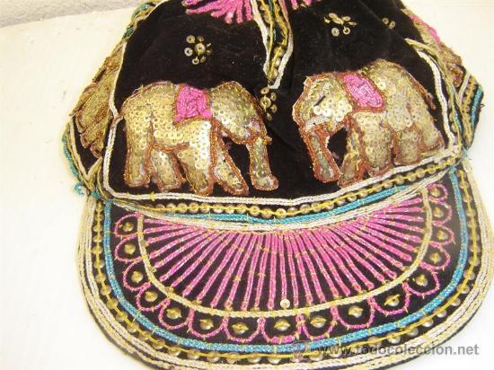 Antigüedades: gorra bordadas con lentejuelas - Foto 2 - 26054973