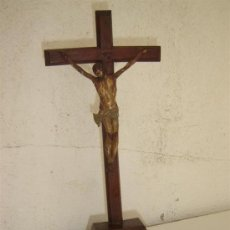 Antigüedades: CRUCIFIJO CON CRISTO DEL SIGLO XVIII. Lote 26055042