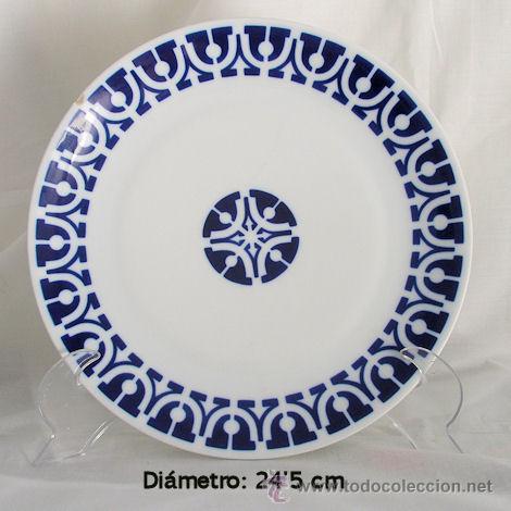 PLATO SARGADELOS BLANCO Y AZUL (Antigüedades - Porcelanas y Cerámicas - Sargadelos)